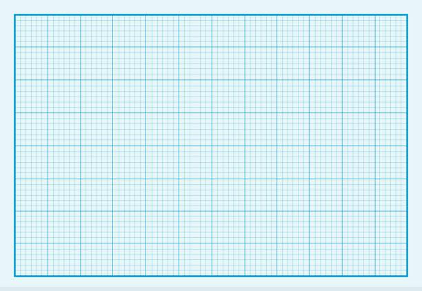 Graph Paper Background Design Flat vector art illustration