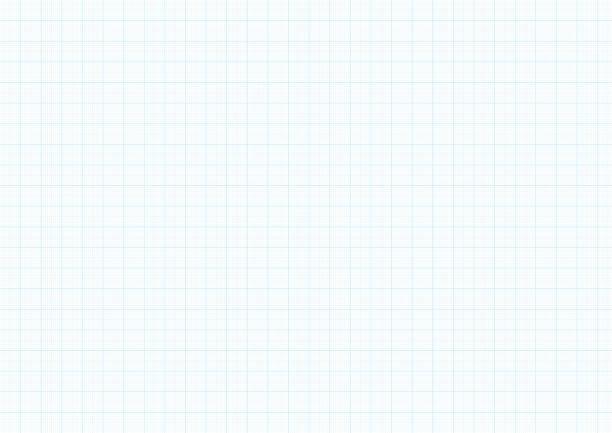 Millimeterpapier Hintergrund Vektor blau Plotten Millimeter Linealhilfslinie Linie zeichnen – Vektorgrafik