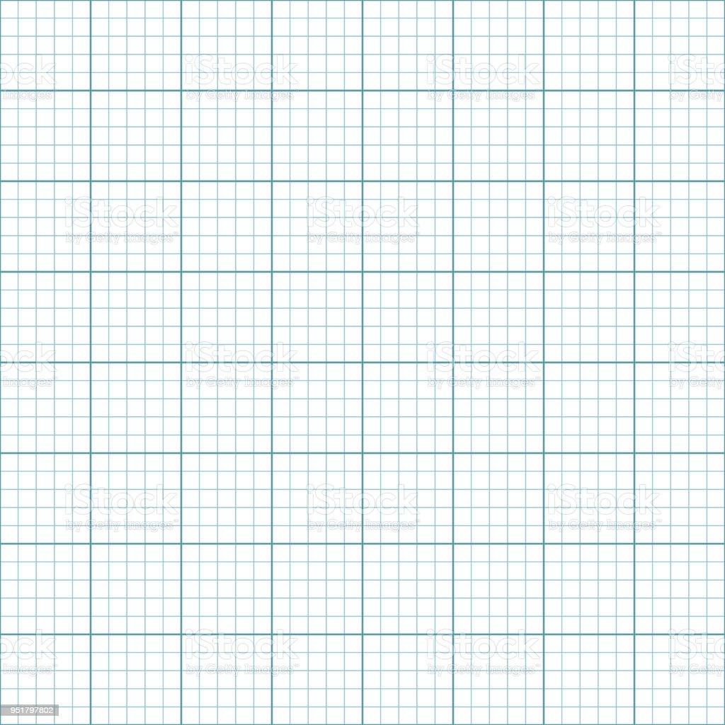 Papier Millimétré Ou Papier Coordonnée Seamless Pattern