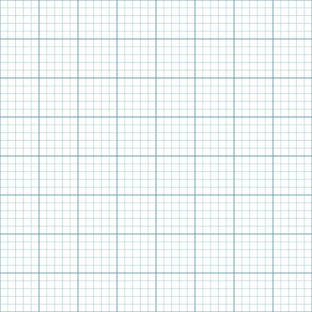 millimeterpapier oder koordinieren papier nahtlose muster - geometriestunde grafiken stock-grafiken, -clipart, -cartoons und -symbole