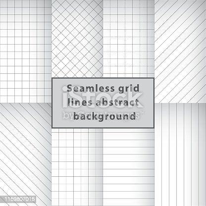 Seamless grid lines abstract background. Vector graphic artwork design element