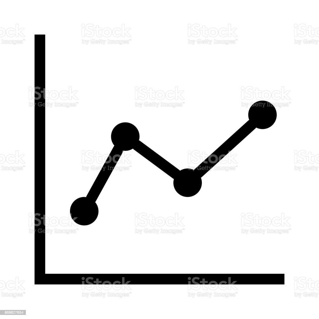 graph thin line vector icon