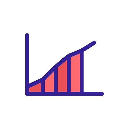 graph to increase the vector icon s performance. Isolated contour symbol illustration