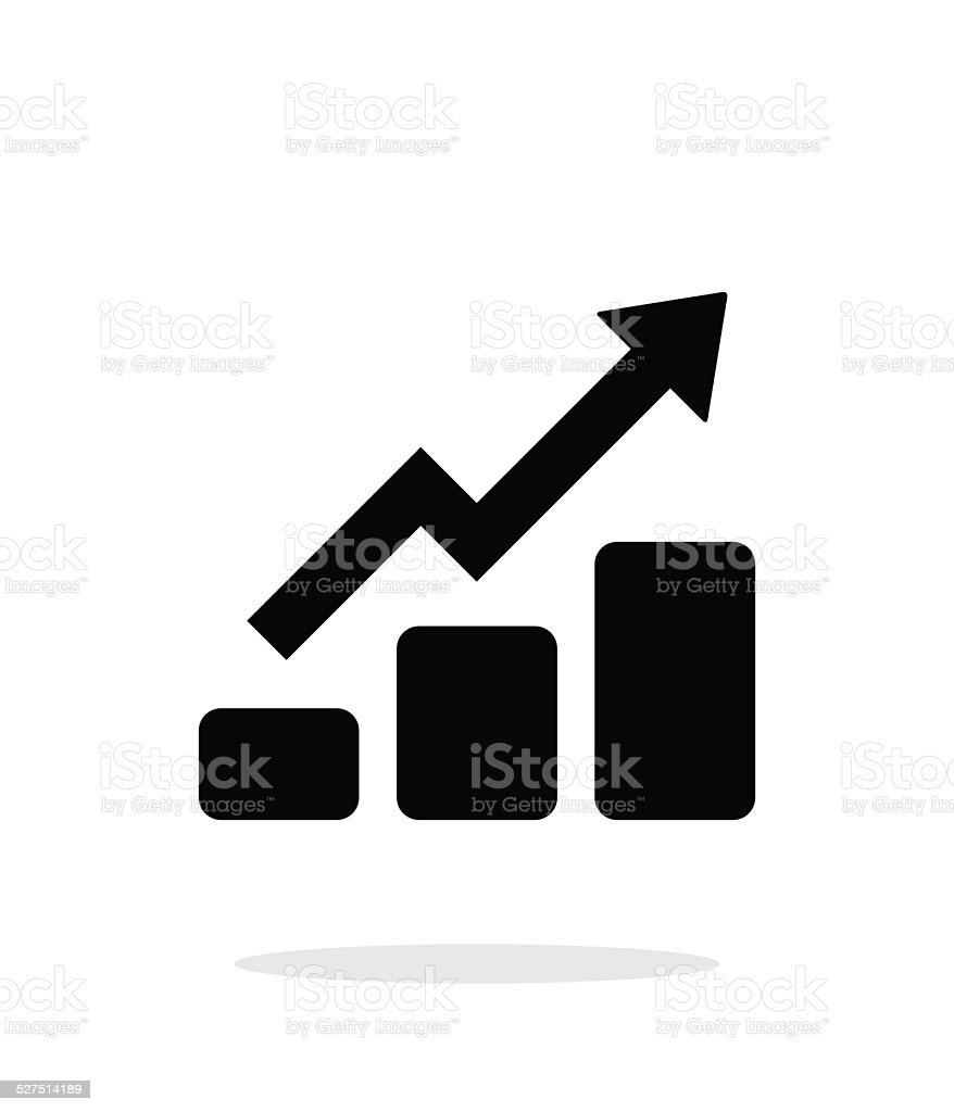 Graph up icon on white background. vector art illustration