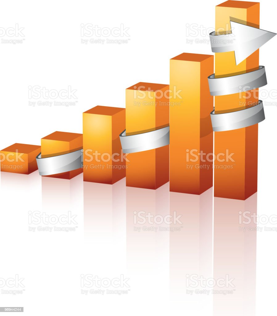 Graph royalty-free graph stock vector art & more images of arrow - bow and arrow