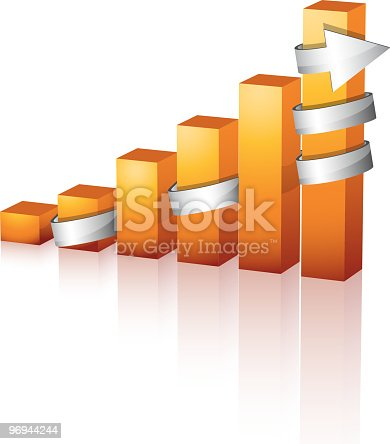 Graph Stock Vector Art & More Images of Arrow - Bow and Arrow 96944244