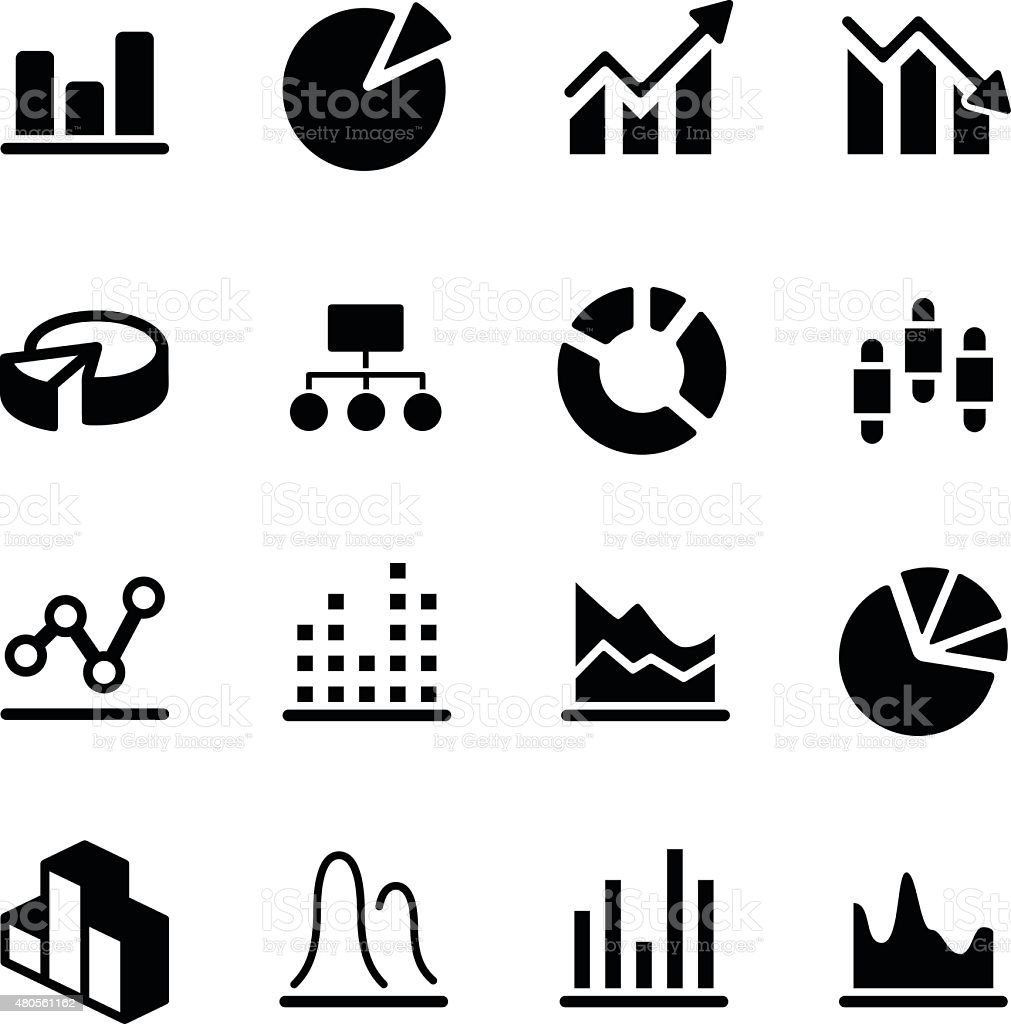 Graph/Diagram Icons vector art illustration