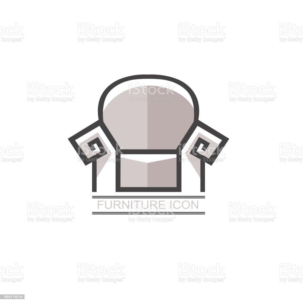 Ilustración de Gráfico Vector Abstracto Real Sofá Cama En Estilo ...