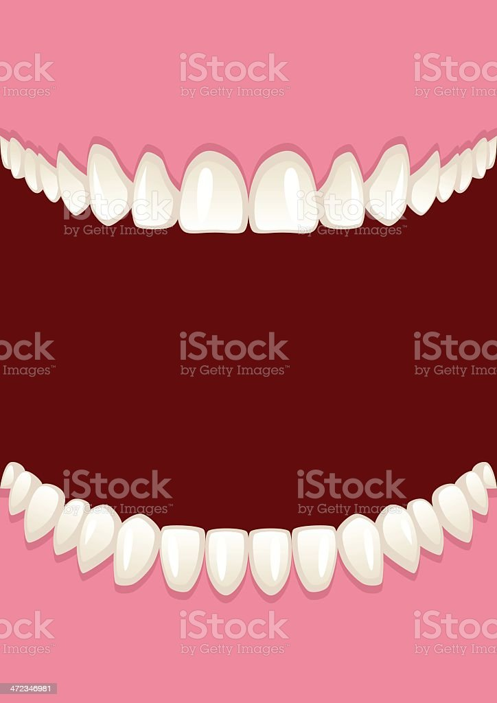 Graphic animation of teeth in open mouth royalty-free stock vector art