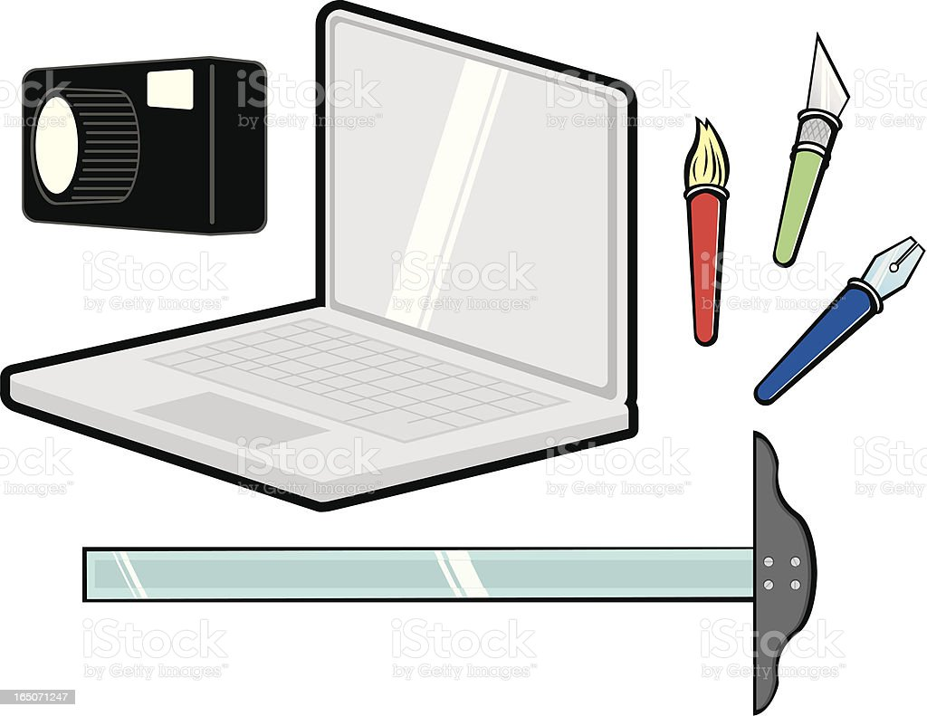 Graphic Artist's Tools royalty-free stock vector art