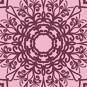graphic background, square pattern with floral geometric ornament. for Bandanna fabric print, neck scarf or rug. vector