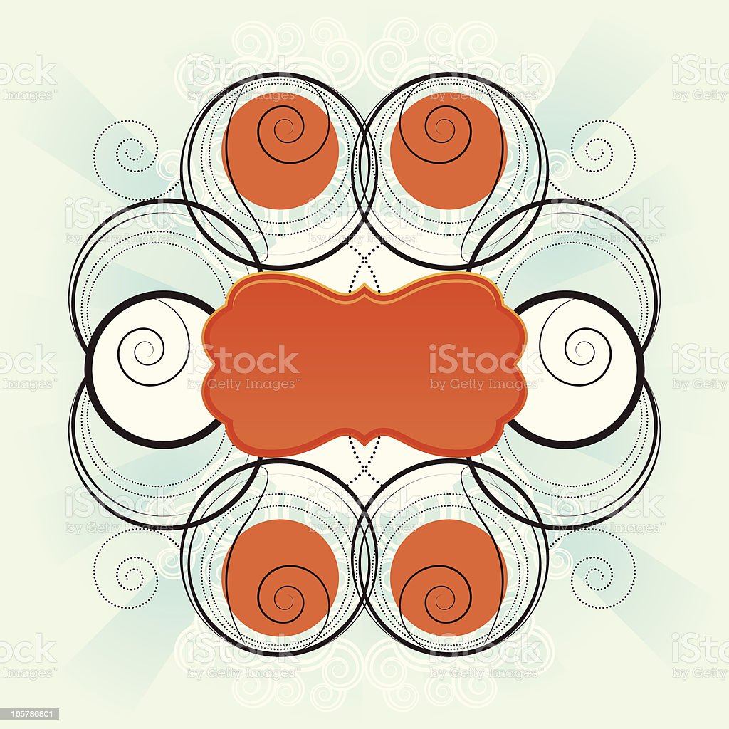 Graphic background with spirals royalty-free stock vector art