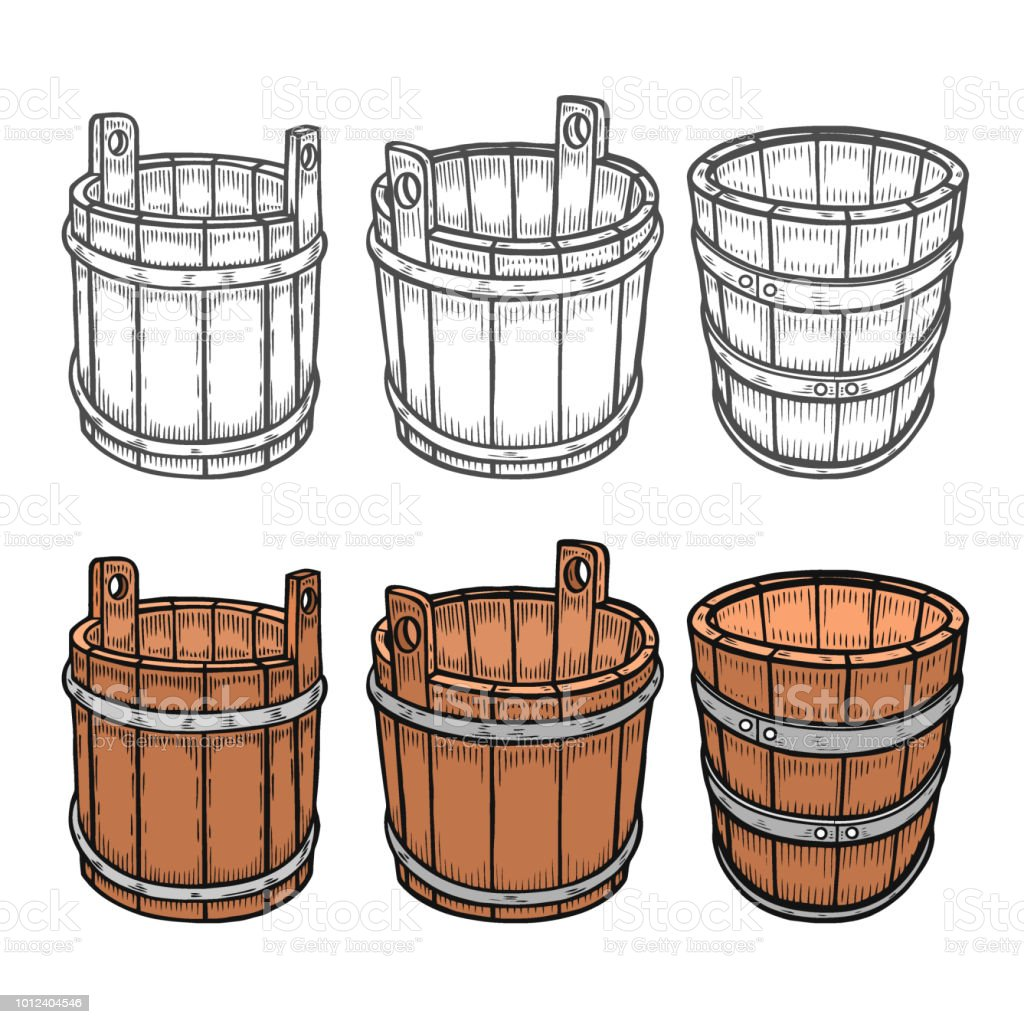 Graphic barrels of beer vector art illustration