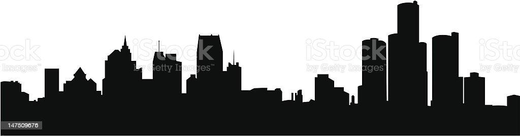 royalty free detroit skyline clip art vector images illustrations rh istockphoto com city skyline clipart skyline clipart new york
