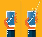 Phone and trade analysis - Illustration