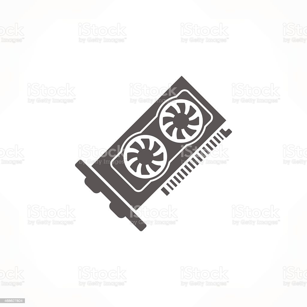 graphic card icon vector art illustration