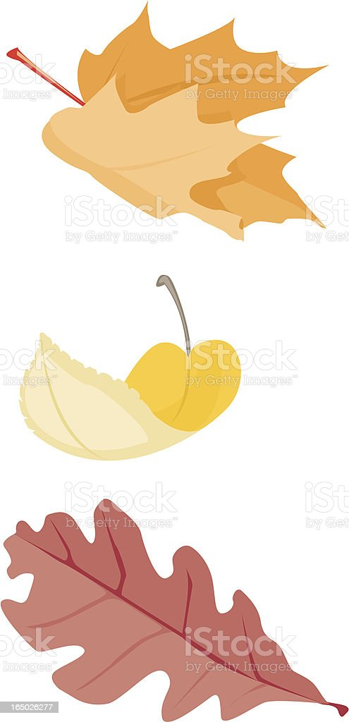 Graphic clip art of falling autumn leaves royalty-free stock vector art