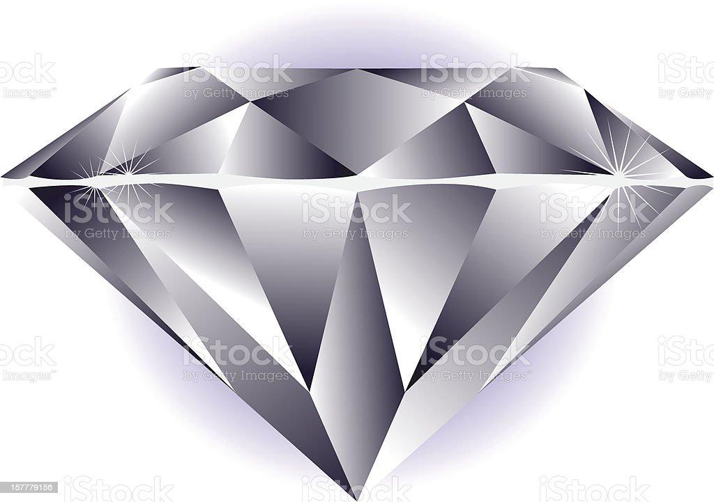 Graphic clip art of sparkling princess cut diamond royalty-free stock vector art
