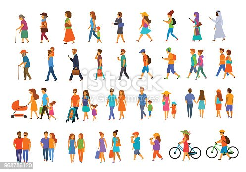 istock graphic collection of people walking 968786120