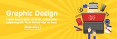 istock Graphic design, designer tools and software banner template 690561044