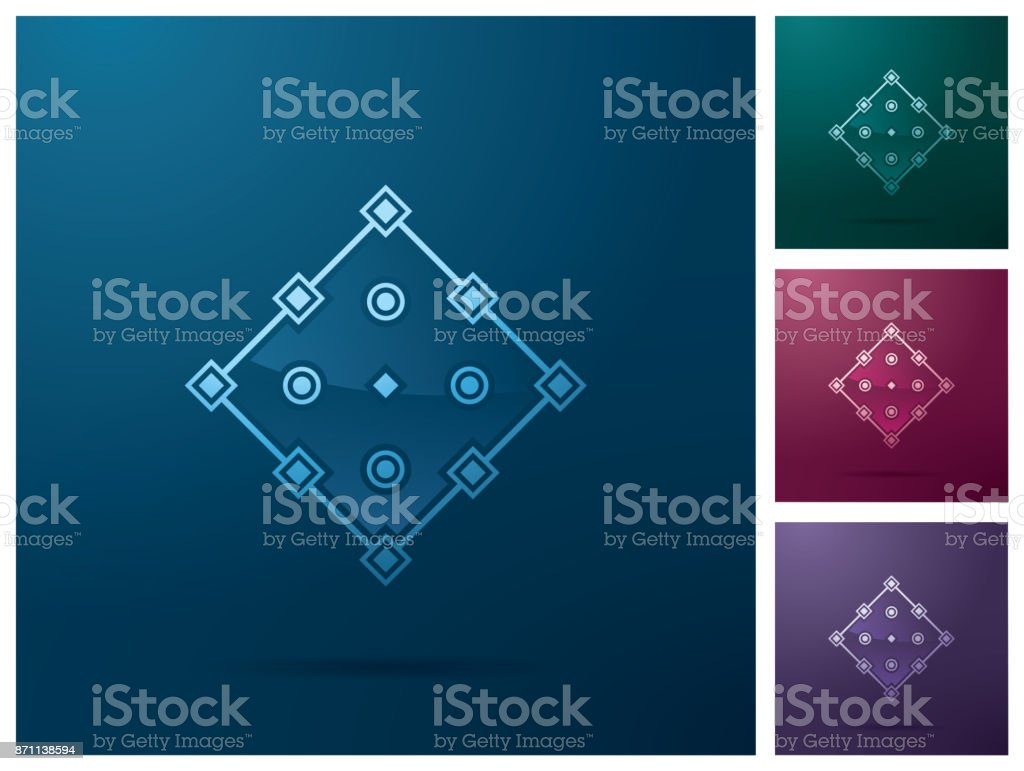 Graphic design element, square anchor point icon design vector art illustration