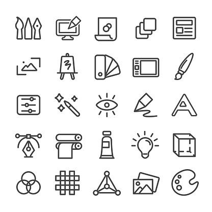 Graphic Design Icon - Smart Line Series