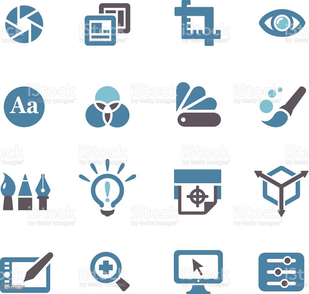 Graphic Design Icons - Conc Series vector art illustration