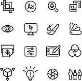 Graphic Design Icons - Line Series