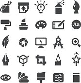 Graphic Design Icons Set - Smart Series