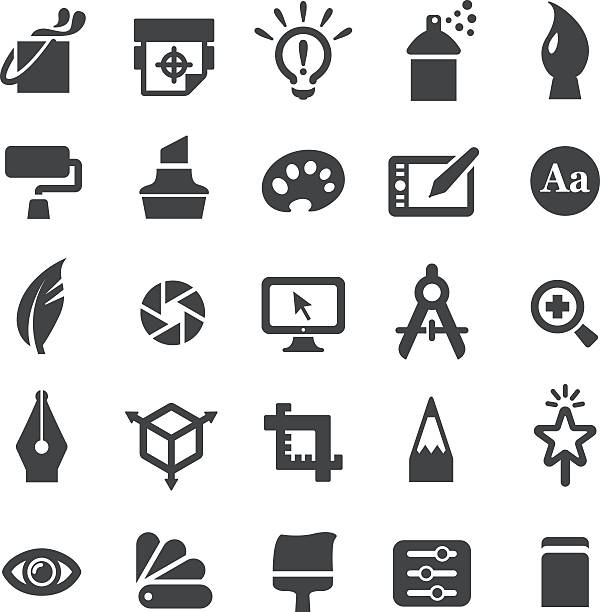 Graphic Design Icons Set - Smart Series View All: airbrush stock illustrations