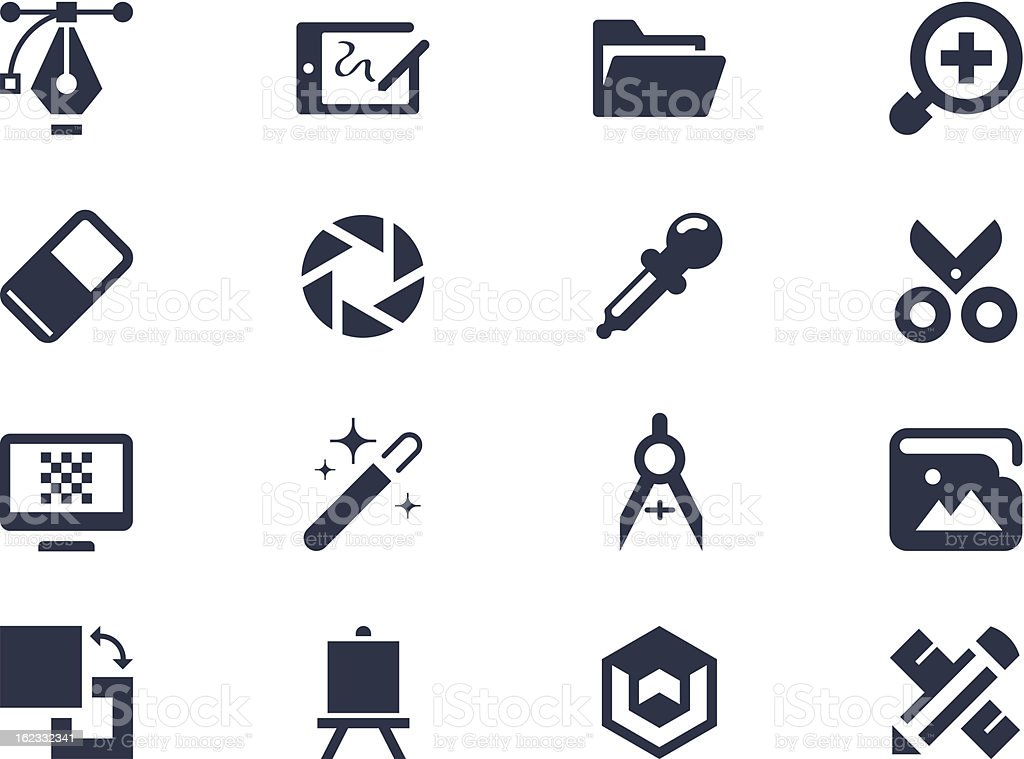 Graphic design icons royalty-free stock vector art