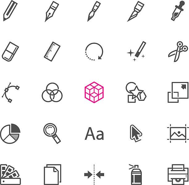 symbole für grafik-design - korrekturlesen stock-grafiken, -clipart, -cartoons und -symbole