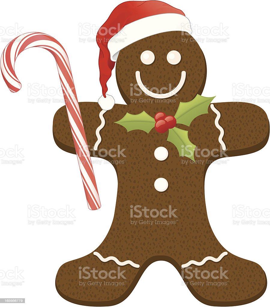 graphic design of a Christmas gingerbread man vector art illustration