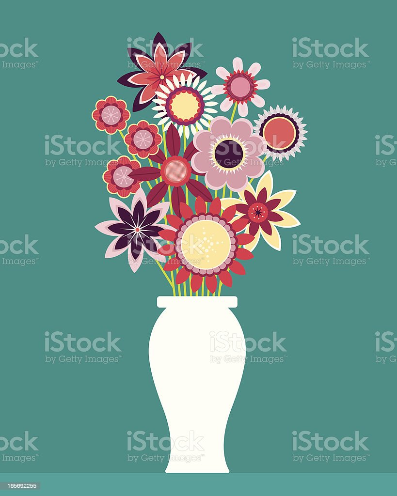 Graphic design of wildflower bouquet royalty-free stock vector art