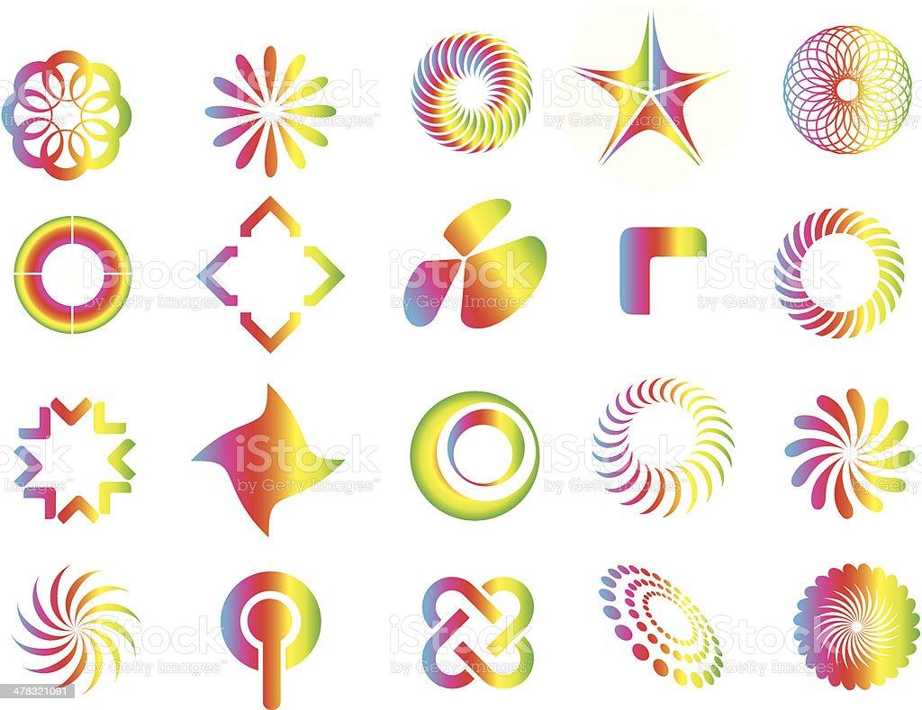 graphic design symbol elements vector art illustration