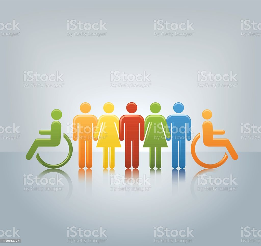 Graphic designed image of diversity and equal opportunity royalty-free graphic designed image of diversity and equal opportunity stock vector art & more images of adult