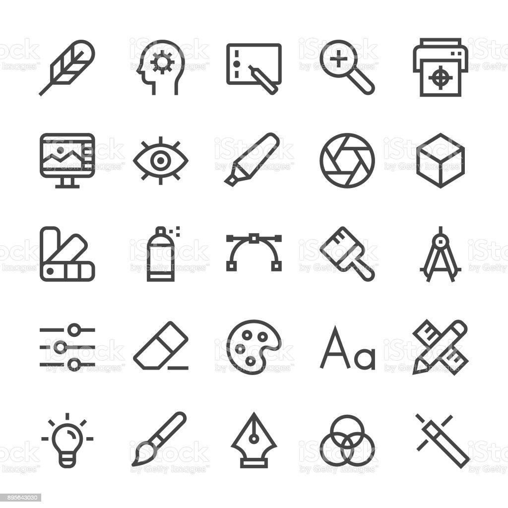 Graphic Designer Icons - MediumX Line