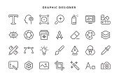 Graphic Designer Icons - Vector EPS 10 File, Pixel Perfect 28 Icons.