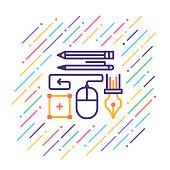 istock Graphic Designer Line Icon 1013668244