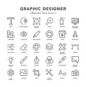 Graphic Designer - Regular Line Icons - Vector EPS 10 File, Pixel Perfect 30 Icons.