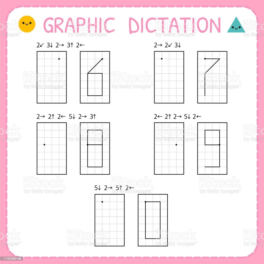 Grafik Dikte Sayilar 60 Cocuklar Icin Anaokulu Egitim Oyunu Motor