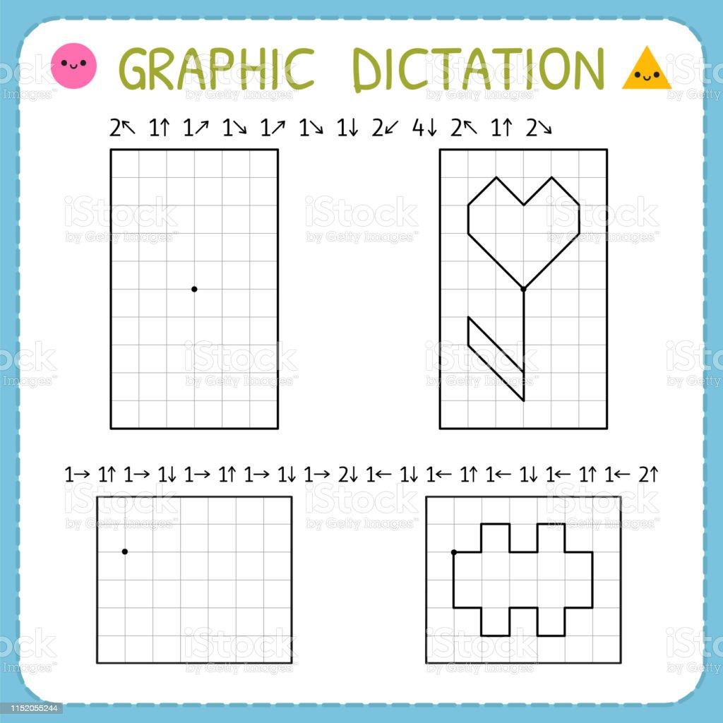- Graphic Dictation Preschool Worksheets For Practicing Motor Skills