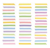 Graphic elements, colorful patterned masking tapes