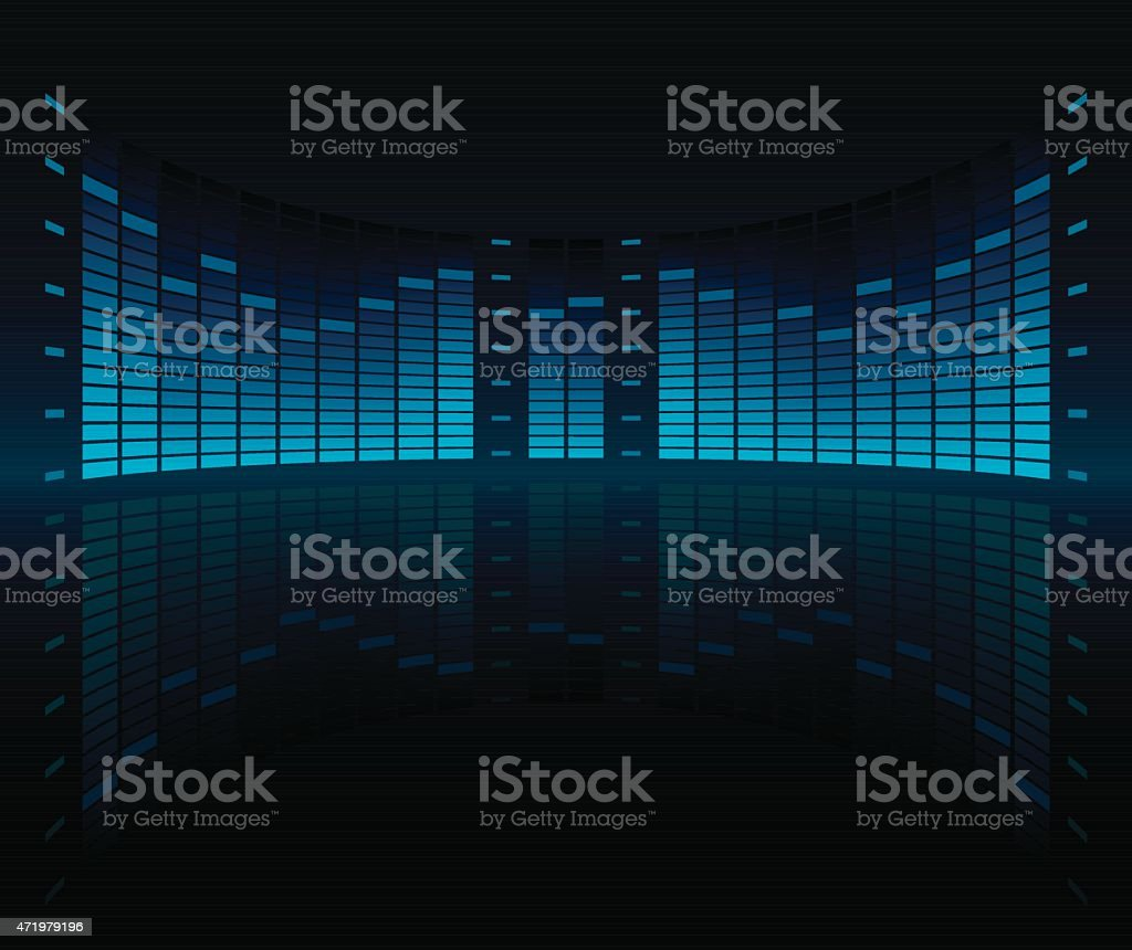 Graphic Equalizer Display Stock Vector Art & More Images of