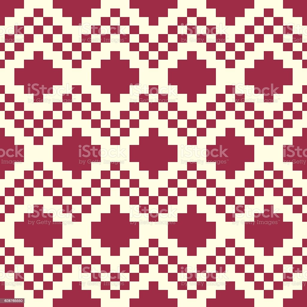 Graphic ethnic ornamental tile, vector repeated pattern vector art illustration