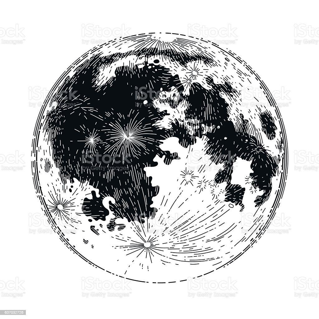 Graphic full moon