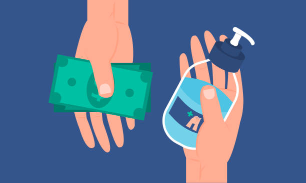 Graphic illustration about Purchase hand sanitizer for Prevent virus, Hygienic, Hygiene. Flat design Precautions : The content in the pictures may not be accurate. Please revise the content before use. rubbing alcohol stock illustrations