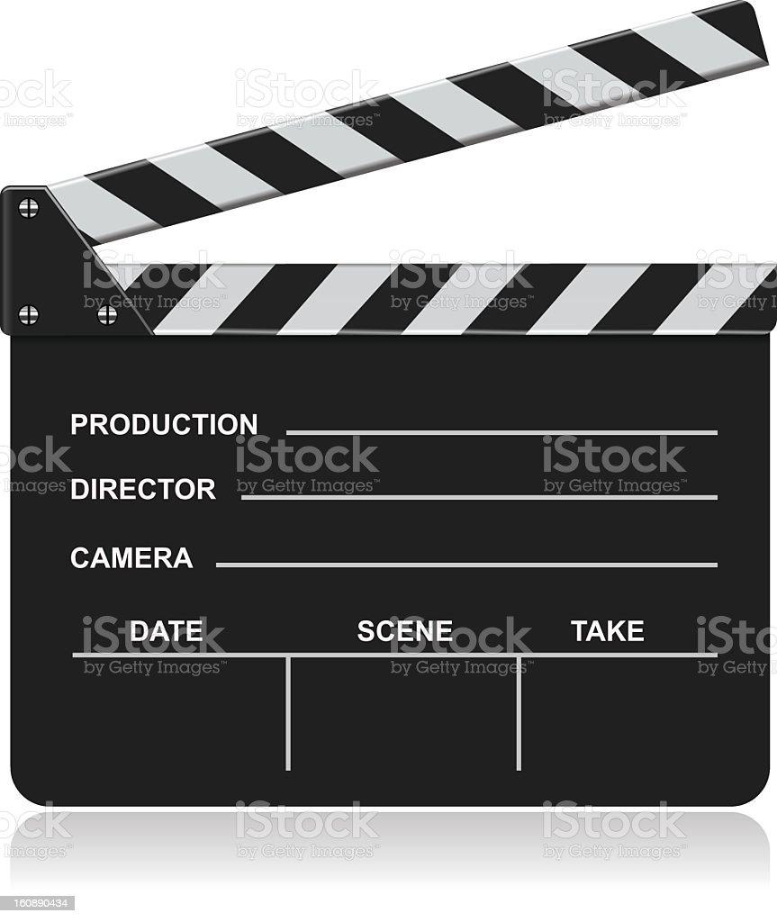 Graphic image of a blank film slate vector art illustration
