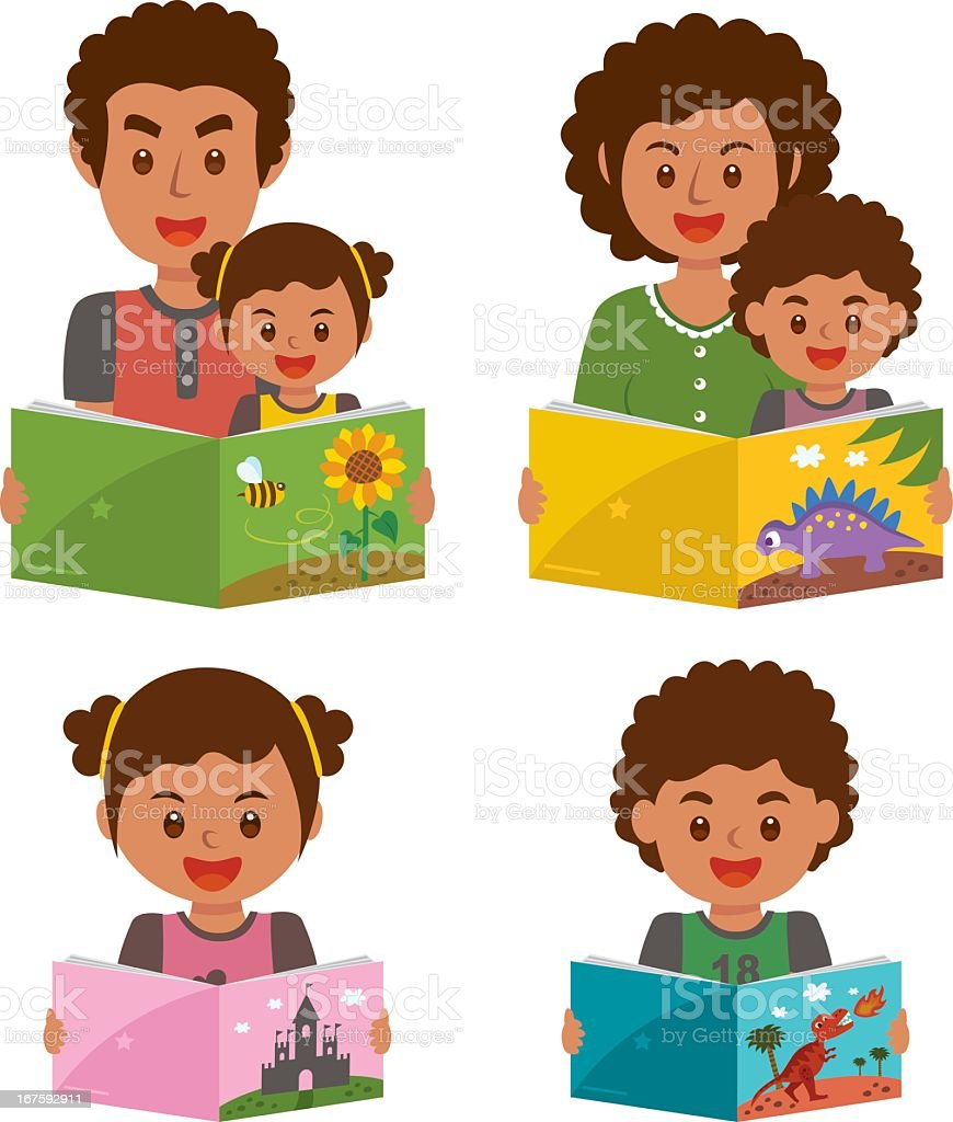 Graphic images of family members reading together and alone royalty-free graphic images of family members reading together and alone stock vector art & more images of african culture