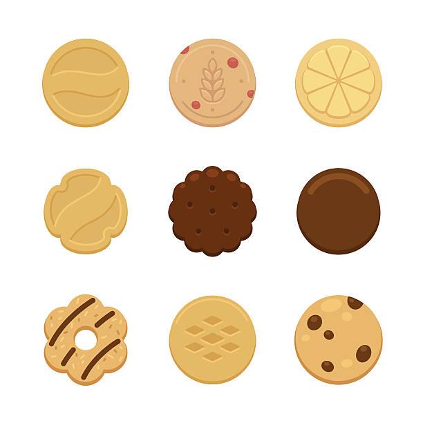 ilustrações de stock, clip art, desenhos animados e ícones de 'cookies' - bolacha